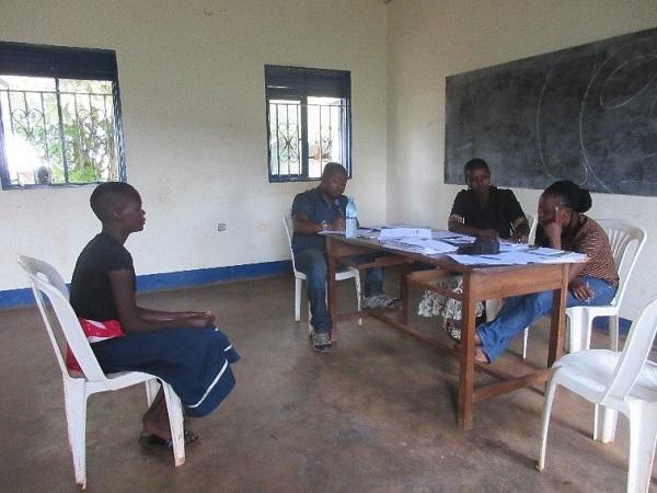 woman being interviewed in uganda