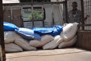 Food items procured to be transported to the nutrition centers in Ayod and Boma for RMF nutrition staff