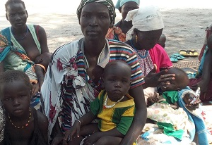 young family in south sudan