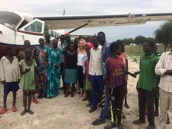 martina fuchs comes to south sudan