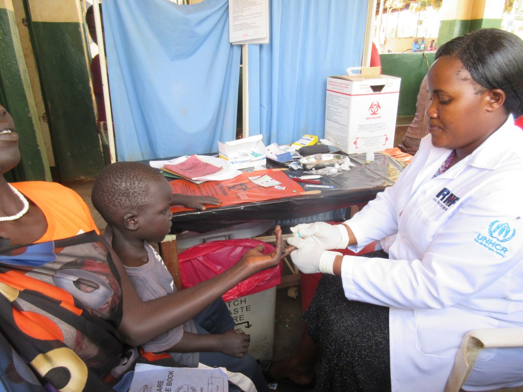RMF ensures that malaria testing kits and regents are available.