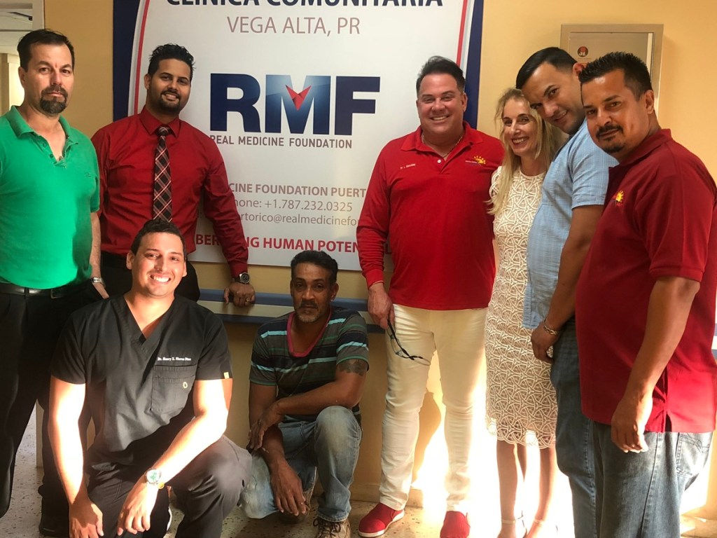 RMF Founder and CEO Dr. Martina Fuchs with our Puerto Rico team in the Vega Alta Clinic