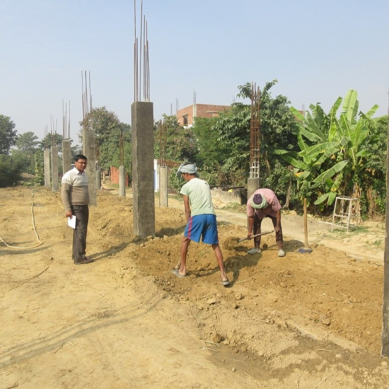 RMF Nepal Program Manager inspecting the quality of the work