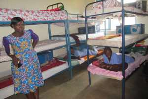Inside the girls' dormitory