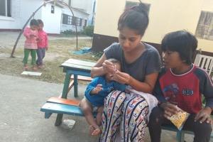 New RMF Nurse Shriya with NCO children