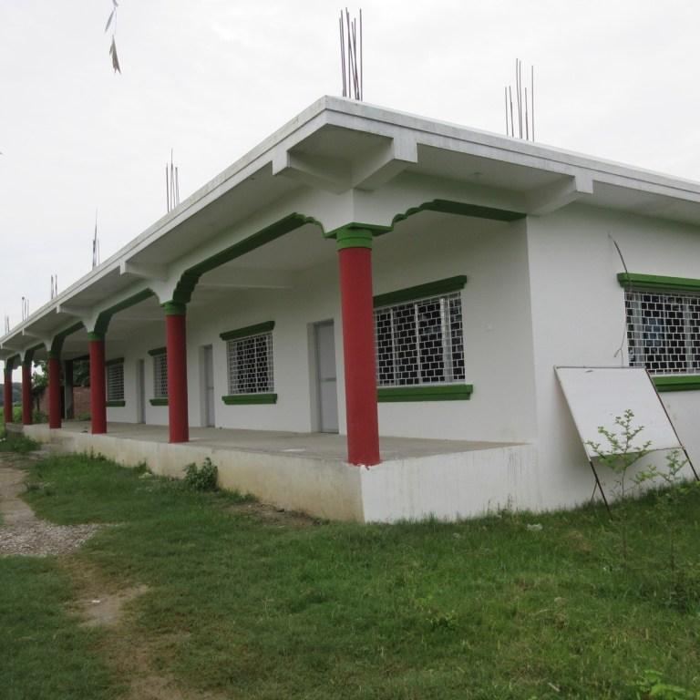 Completed 4-classroom school building at Karuna Girls' School in Lumbini