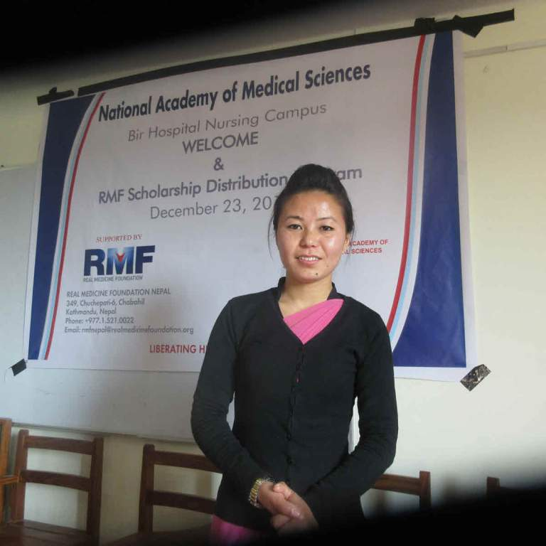 Muna Tembe Limbu, BMS student at NAMS and recipient of 2018 RMF scholarship