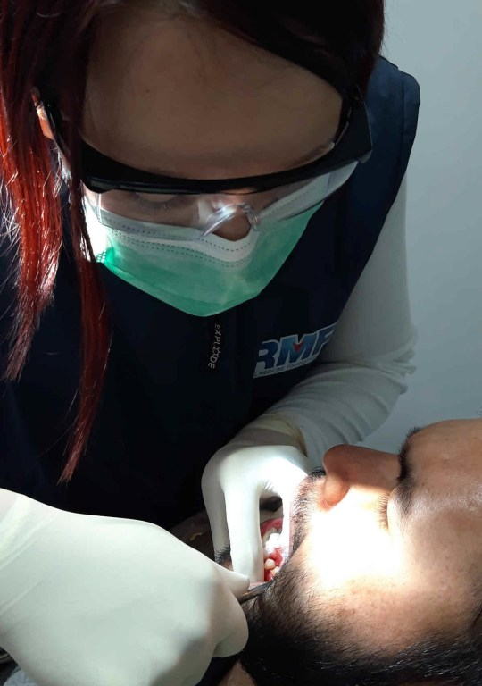 Mobile dental clinic daily activities