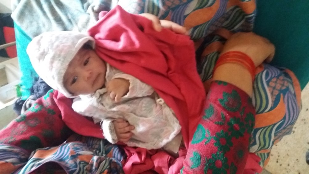 AS Nepal KCH Q2 2018 Sushila Pariyar's baby before discharge