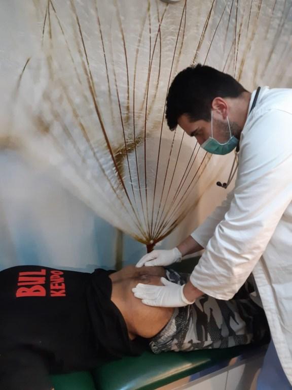 Dr. Milosavljević is checking Zahir in RMF clinic