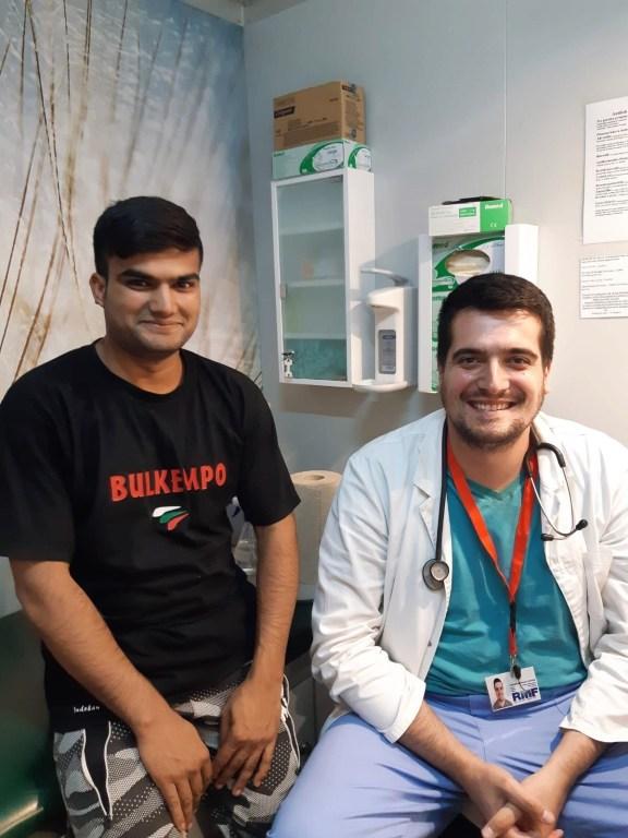Zahir with RMF doctor Dr. Milosavljević