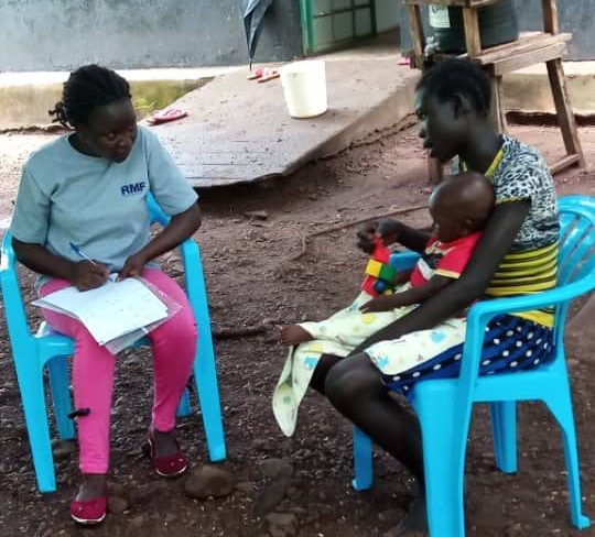 AF South Sudan MTP Q3 2019 RMF Nutrition nurse conducting individual counselling on MIYCN