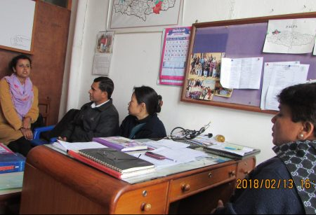 AS Nepal MCHP Q1 2018 RMF Program Coordinator with staff of Palpa community health department (1)