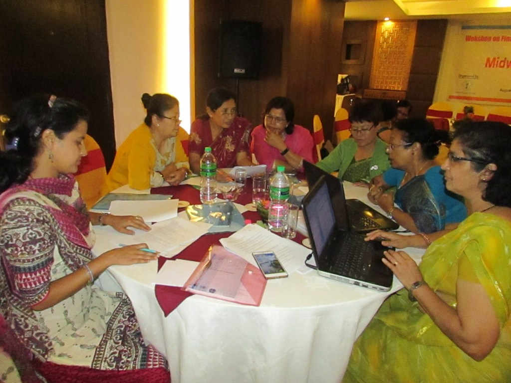 RMF Program Coordinator Pragya Gautam in a discussion with subject experts at the workshop