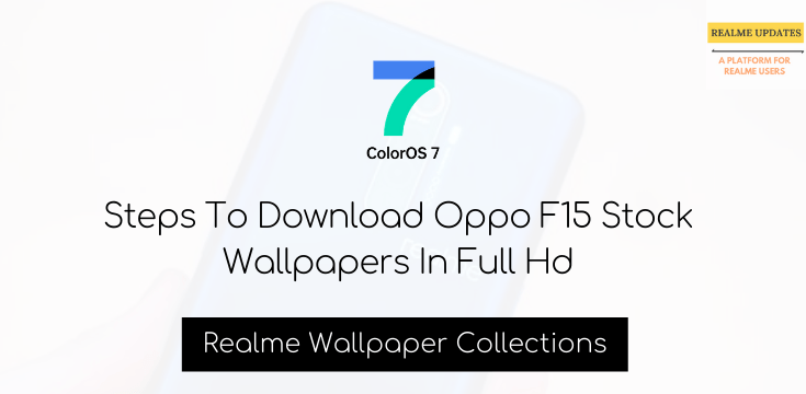 Download Oppo F15 Stock Wallpapers In Full Hd - Realme Updates