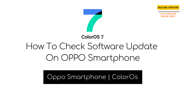 How To Check Software Update On OPPO Smartphone - Realme Updates