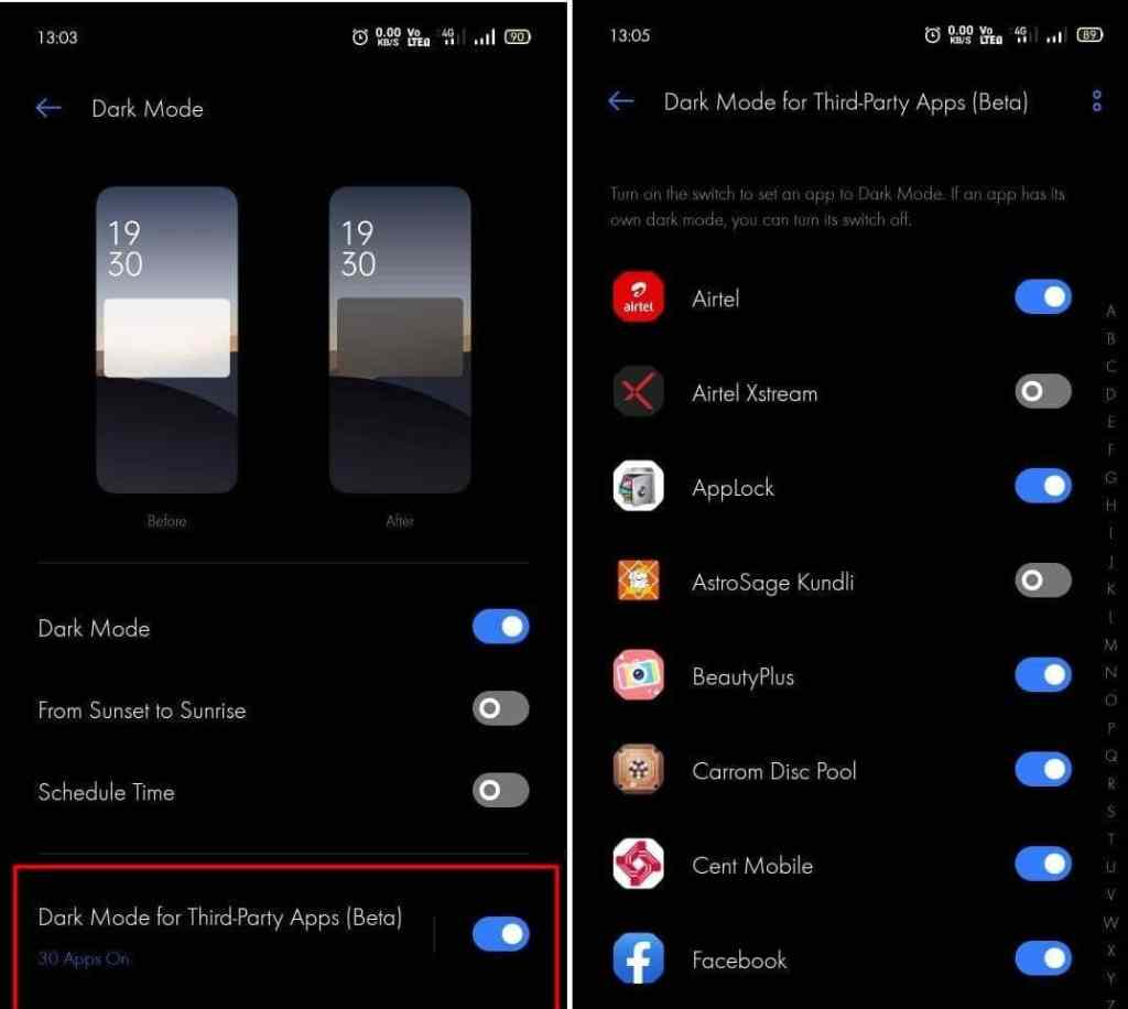 How to Enable Dark Mode on Realme UI - Realmi Updates