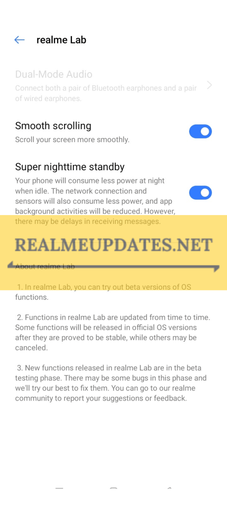 [A.43] Realme Narzo 10A August 2020 Security Patch Update In India Brings August Android Security Patch, Super Nighttime Standby, Smooth Scrolling Feature, OTG Switch Toggle & More [Download Link] - Realmi Updates