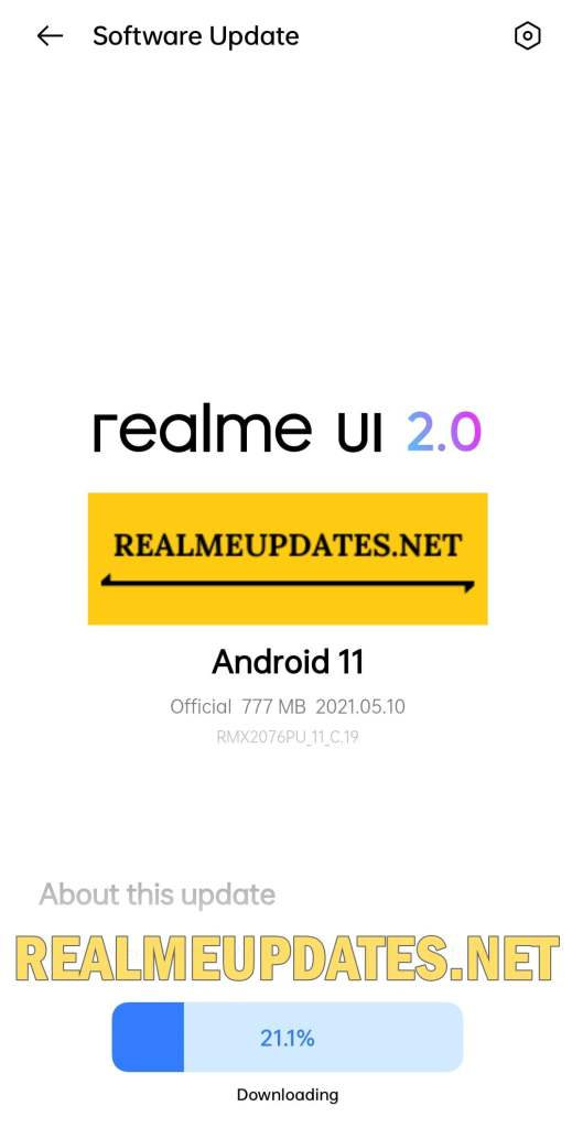 Realme X50 Pro May 2021 Security Update Screenshot - Realme Updates