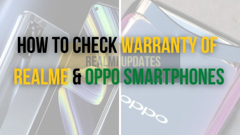 How To Check Warranty of Realme & OPPO Smartphones