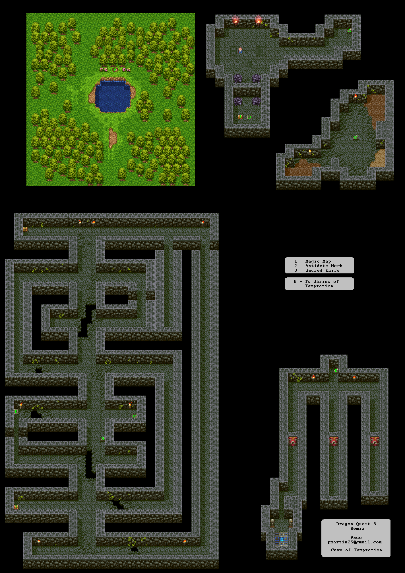 Dragon Quest 3 Map : dragon, quest, Dragon, Quest, Dungeon, Tower, Realm, Darkness.net, Warrior, Shrine