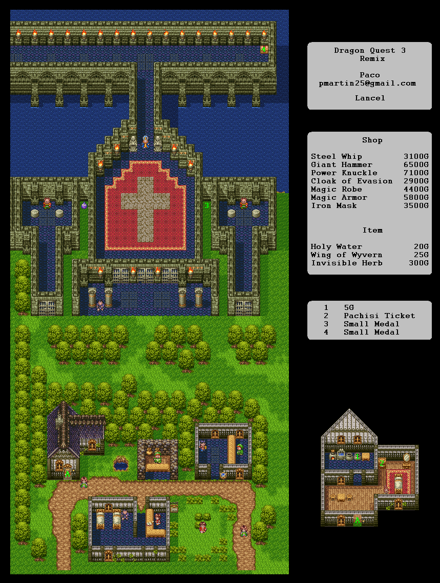 Dragon Quest 3 Map : dragon, quest, Dragon, Quest, Castle, Realm, Darkness.net, Warrior, Shrine