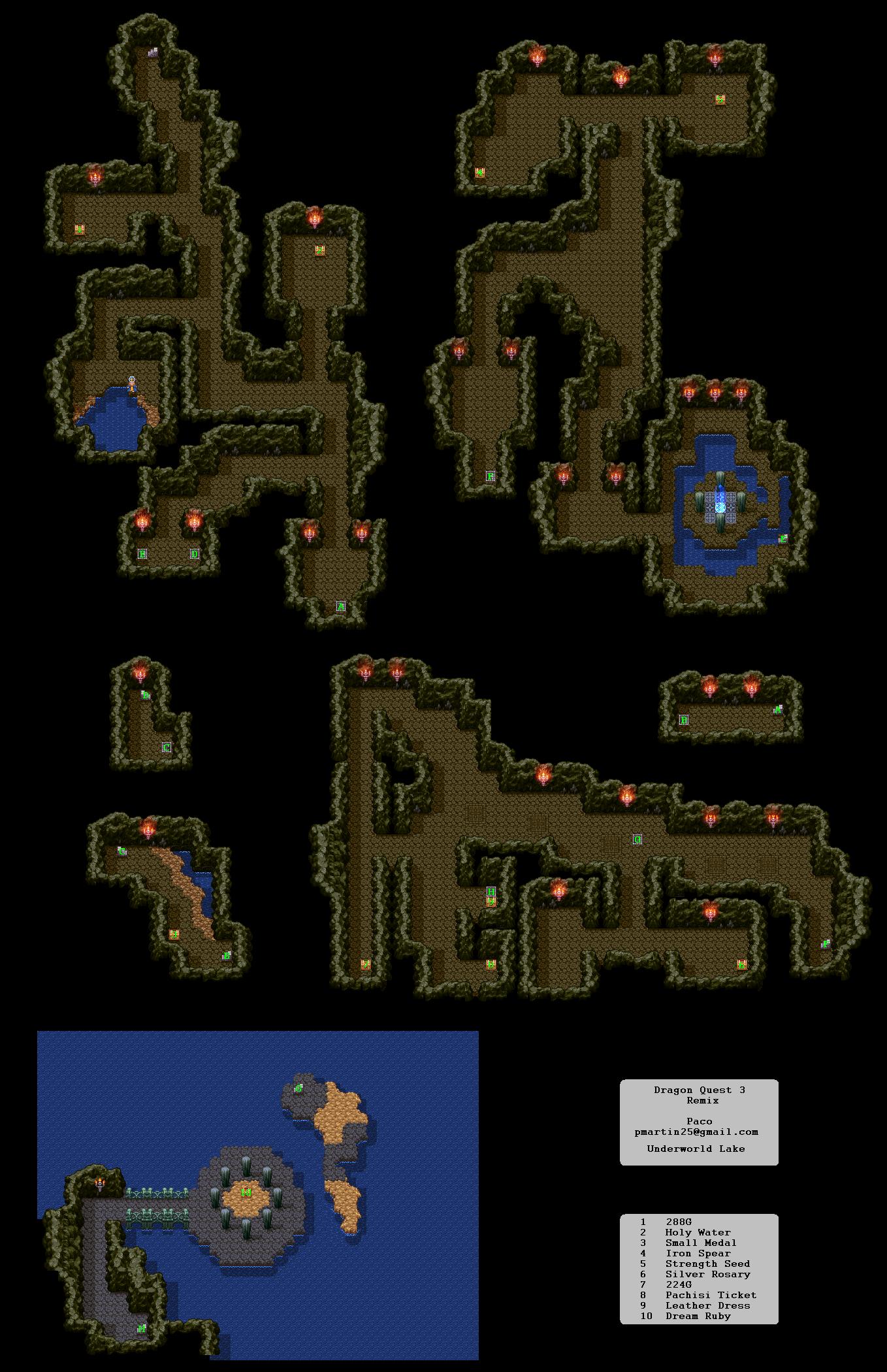 Dragon Quest 3 Map : dragon, quest, Dragon, Quest, Dungeon, Tower, Realm, Darkness.net, Warrior, Shrine
