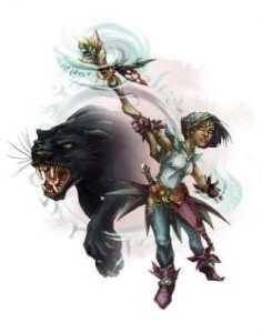 Halfing Celestial Beastcaller Druid