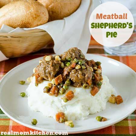 Meatball Shepherds Pie   realmomkitchen.com