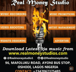 "Ajuju – Chante Hallelujah type beat. Here comes the best Gospel competition instrumental or free beat for every naija/Nigerian artists who want to be heard around the globe. REAL MONEY ENTERTAINMENT/STUDIO presents ""save my soul"" Gospel competition instrumental for every Nigerian artists who want to be heard around the world by downloading this free Gospel competition instrumental and record their songs on it and stand a CHANCE OF WINNING FREE 3 TRACKS MUSIC RECORDING plus FREE PROMOTION by REAL MONEY STUDIO How to participate Download this free instrumental titled ""SAVE MY SOUL"", Compose your song on it then go to any STUDIO and record on this beat, Then send the master of the song in mp3 format with your contact and picture to submit2realmoneystudio@gmail.com First price... Three songs free recording + free promotion. Second price... One song free recording + free promotion. Third price... Free promotion. Submission start on 05/08/2019 end on 30/06/2019. but if you are not interested on this competition, you can go ahead download this instrumental and use on your song. This beat is 100% free for every artists. For further information contact REAL MONEY STUDIO at No. 96 Mafoluku road Ayoni bus stop Oshodi Lagos or call 07067375485."