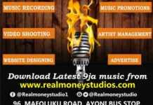 , RECORDING STUDIO IN LAGOS, REAL MONEY STUDIO