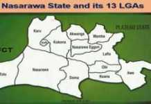 Nasarawa State thirteen (13) Local Government Areas