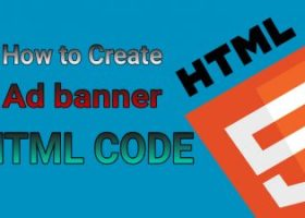 how to create ad banner HTML code