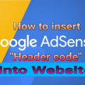 how to insert Google AdSense header code2