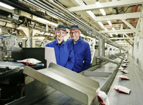 Inside Walkers Crisps Factory
