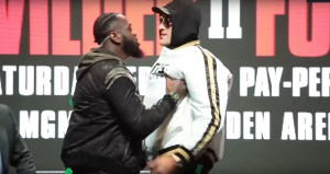 Deontay Wilder vs Tyson Fury 2. Ostro podczas face off'u!
