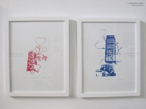 "Love Houston [L], Love Houston More [R]. Screenprints 11""x14"""