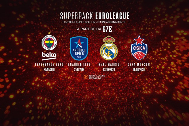 EuroLeague 2019-2020, super offerta per le quattro grandi