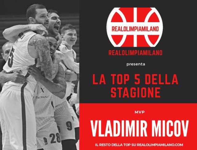 Olimpia Milano TOP 5 2019-2020 | Vladimir Micov è l'mvp