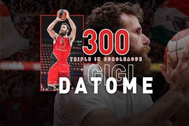 Gigi Datome dice 300 triple in EuroLeague