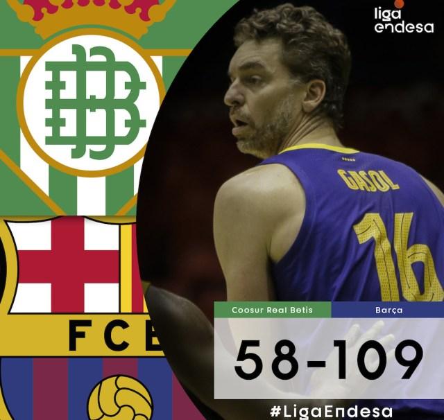 Il Barcellona domina in casa del Real Betis: +51?!