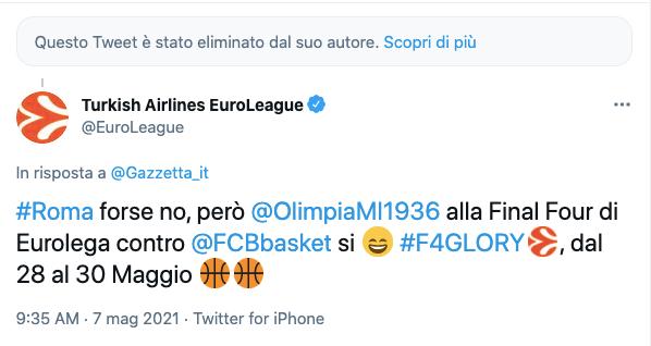 """Errore veniale della Gazzetta, EuroLeague """"spietata"""": Roma forse no, Olimpia Milano sì"""