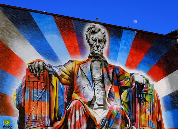 Eduardo Kobra's Lincoln mural, downtown Lexington by Tom Eblen