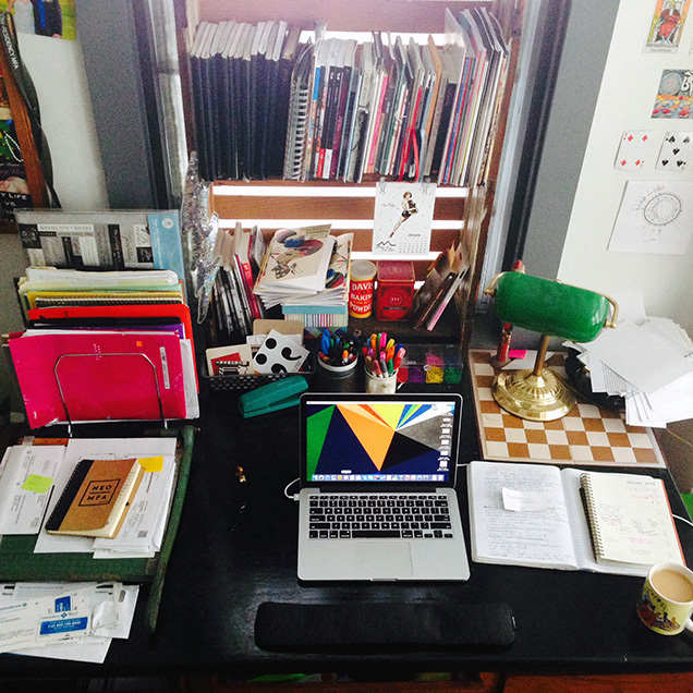 a picture of Kimberly Ann Southwick's desk