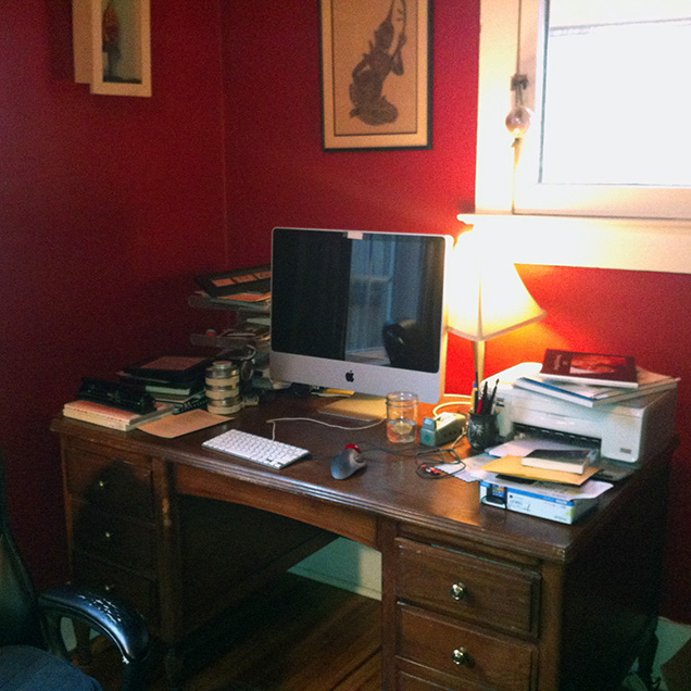 a picture of Sommer Browning's desk