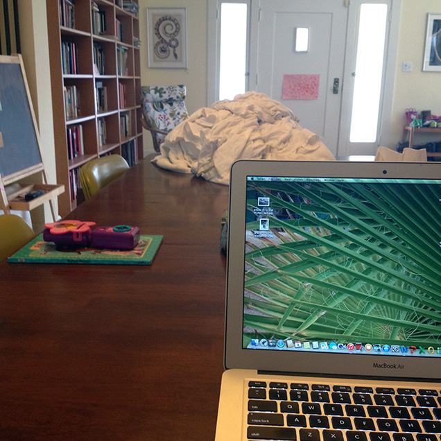 a photograph of Wendy C. Ortiz's workspace