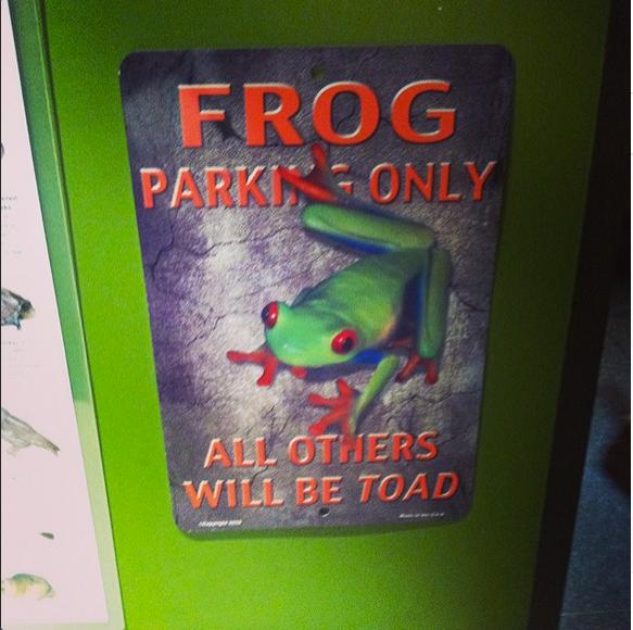 Favorite frog parking sign EVER.