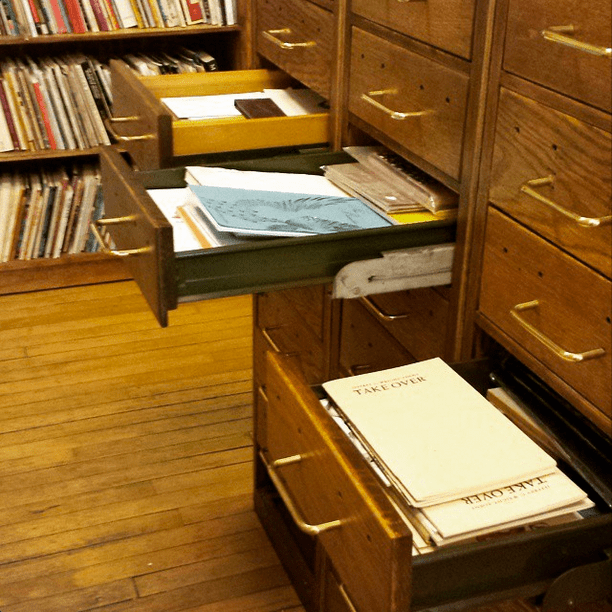We have chapbooks, broadsides, and artist books in fun little nooks and crannies.