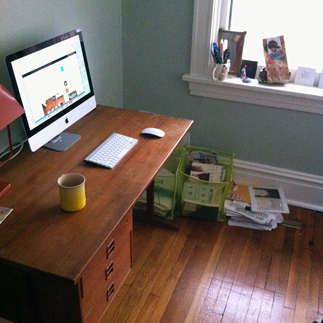 A photograph of Danielle Dutton's desk