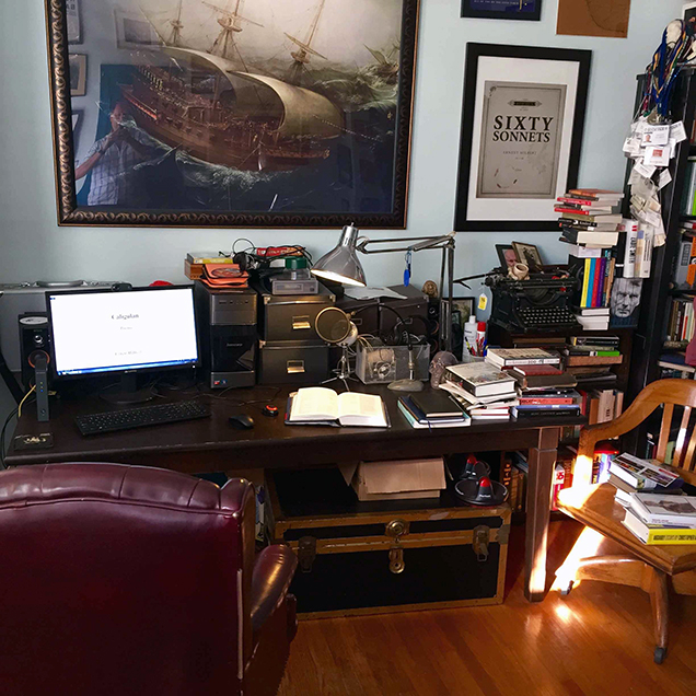 A photograph of the desk of Ernest Hilbert
